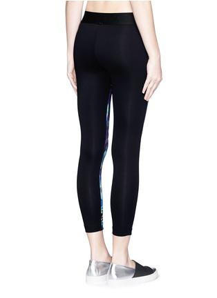 背面 - 点击放大 - KORAL - COMPASS抽象印花九分运动紧身裤