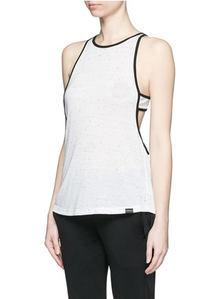 Front View - Click To Enlarge - Koral - 'Vortex' double layer racerback sleeveless tank top