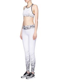 KORALPixelate jacquard cropped leggings