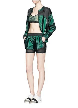 模特儿示范图 - 点击放大 - KORAL - 拼色反光夹克