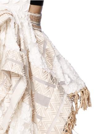 Detail View - Click To Enlarge - Mame - Fil coupé fringe handkerchief hem top