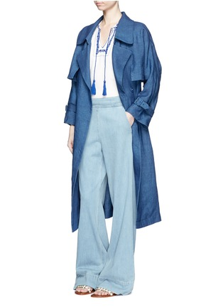 Figure View - Click To Enlarge - Mame - Linen chambray trench coat