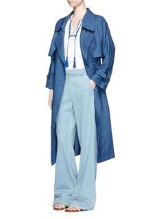MAMELinen chambray trench coat