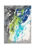 'Danao' paint splatter print silk-modal scarf