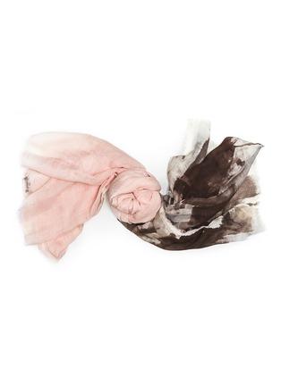 Detail View - Click To Enlarge - Franco Ferrari - 'Rieti' paint stroke print modal-linen-silk scarf