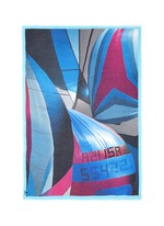 'Danao' sail boat print hand painted silk-modal scarf