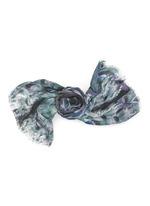'Onirico' peacock feather print silk scarf