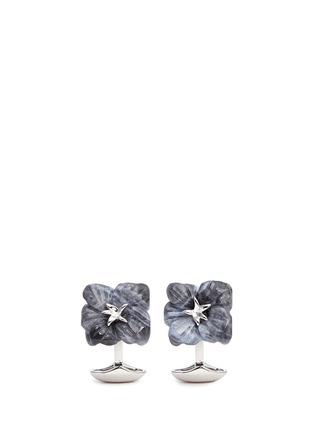 Main View - Click To Enlarge - Babette Wasserman - Sodalite flower cufflinks