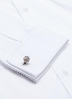 TATEOSSIAN菱格雕花球形钛金属袖扣