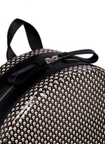 Mini skull dot print canvas backpack
