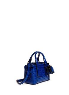 PIERRE HARDY'Bandit' mini croc embossed leather crossbody bag