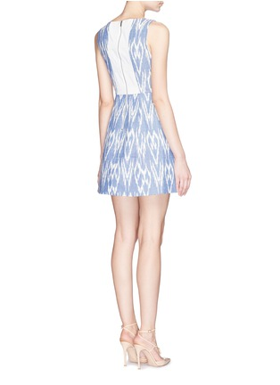 Back View - Click To Enlarge - alice + olivia - 'Epstein' ikat print denim pouf dress