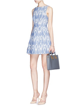 Figure View - Click To Enlarge - alice + olivia - 'Epstein' ikat print denim pouf dress