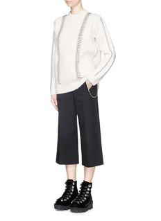 ALEXANDER WANG Hand crochet ball chain lambswool sweater