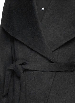 Detail View - Click To Enlarge - Acne Studios - 'Emera' belted luxe wool felt wrap coat