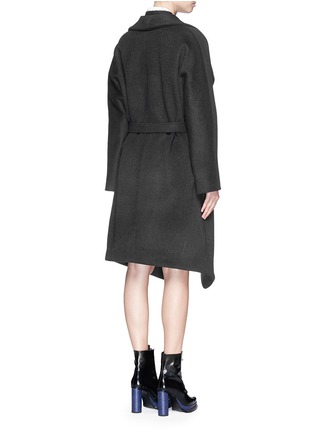 Back View - Click To Enlarge - Acne Studios - 'Emera' belted luxe wool felt wrap coat