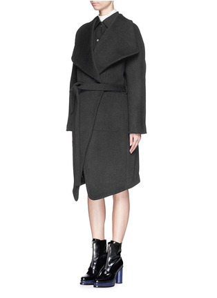 Front View - Click To Enlarge - Acne Studios - 'Emera' belted luxe wool felt wrap coat