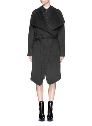 Main View - Click To Enlarge - Acne Studios - 'Emera' belted luxe wool felt wrap coat