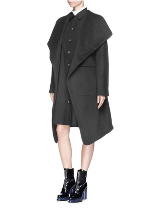 Figure View - Click To Enlarge - Acne Studios - 'Emera' belted luxe wool felt wrap coat