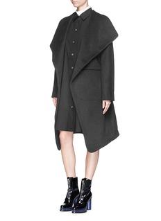 ACNE STUDIOS'Emera' belted luxe wool felt wrap coat