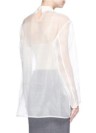 Back View - Click To Enlarge - Acne Studios - 'Tino' sheer organza blouse
