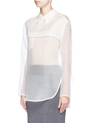 Front View - Click To Enlarge - Acne Studios - 'Tino' sheer organza blouse