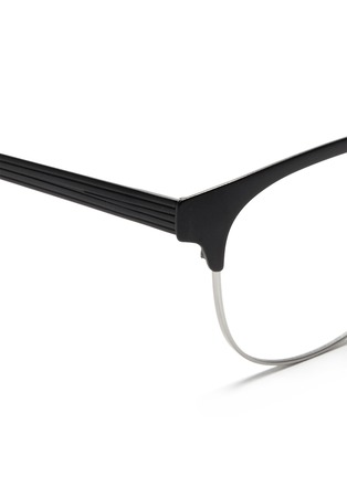Detail View - Click To Enlarge - Ray-Ban - Contrast brow bar metal optical glasses
