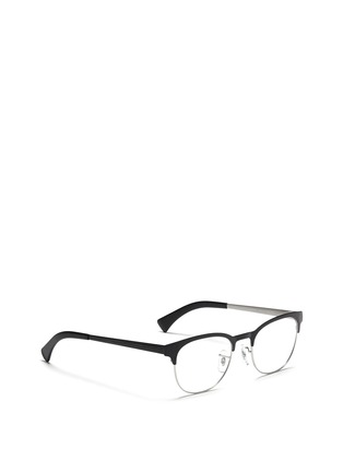 Figure View - Click To Enlarge - Ray-Ban - Contrast brow bar metal optical glasses