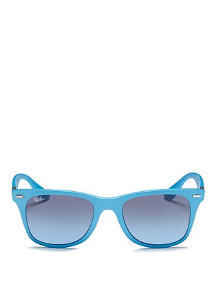 Main View - Click To Enlarge - Ray-Ban - 'Wayfarer Liteforce' matte thermoplastic sunglasses
