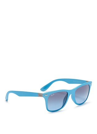 Figure View - Click To Enlarge - Ray-Ban - 'Wayfarer Liteforce' matte thermoplastic sunglasses