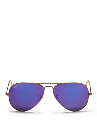 Main View - Click To Enlarge - Ray-Ban - 'Aviator Large Metal' mirror sunglasses