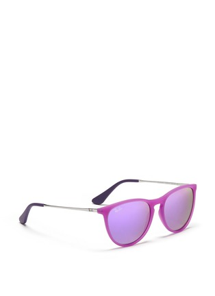 Figure View - Click To Enlarge - Ray-Ban - 'Izzy' acetate frame wire temple sunglasses