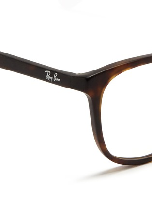 Detail View - Click To Enlarge - Ray-Ban - Matte tortoiseshell acetate optical glasses