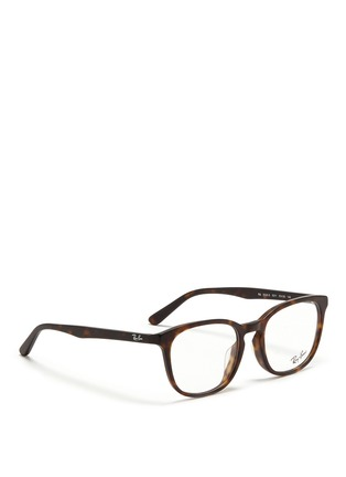 Figure View - Click To Enlarge - Ray-Ban - Matte tortoiseshell acetate optical glasses