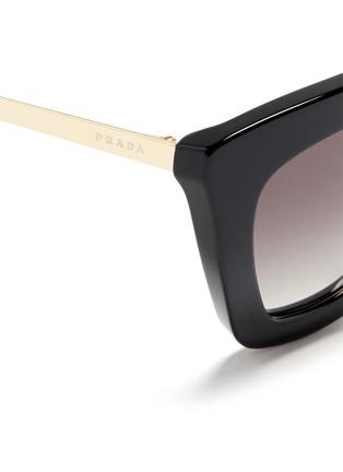 Detail View - Click To Enlarge - Prada - Double metal bridge acetate sunglasses