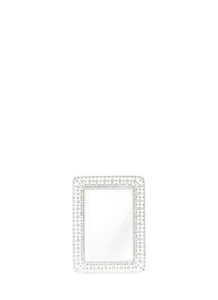 Main View - Click To Enlarge - LANE CRAWFORD - Rhinestone wide cutout metal 4R photo frame