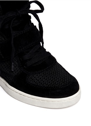 Detail View - Click To Enlarge - Ash - Cool Mesh suede wedge sneakers