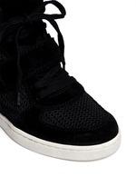 Cool Mesh suede wedge sneakers