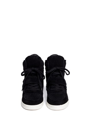 Figure View - Click To Enlarge - Ash - Cool Mesh suede wedge sneakers
