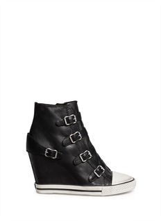 ASHUnited leather wedge sneakers