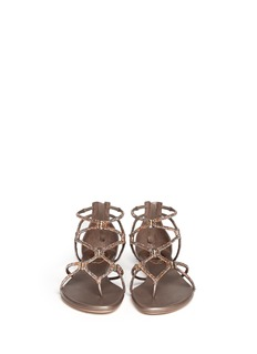 RENÉ CAOVILLACrystal strap leather sandals
