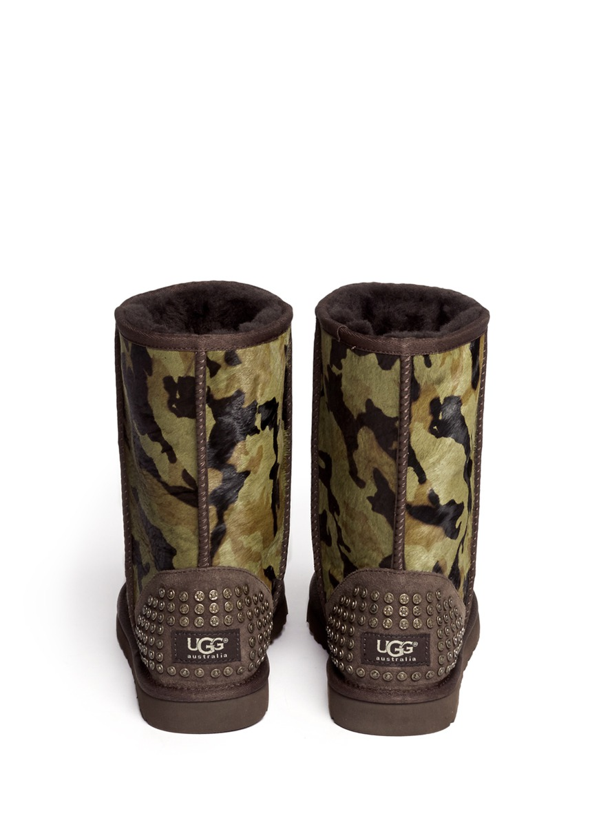 Ugg Australia Rowland Camouflage Calf Hair Short Boots