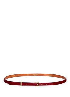 MAISON BOINETSkinny calf hair belt