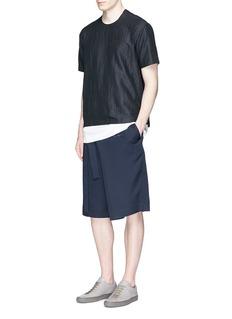 FFIXXED STUDIOS'Daniel' raw lining stripe dobby T-shirt