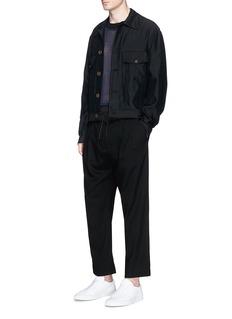 FFIXXED STUDIOSPoplin waist wool flare jogging pants