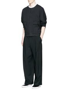 FFIXXED STUDIOS'Kay' pinstripe relaxed bomber jacket