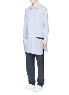 FFIXXED STUDIOS Stripe detachable bottom long shirt