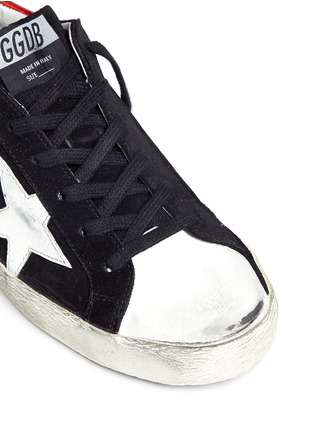 Detail View - Click To Enlarge - Golden Goose - Superstar' star patch distressed suede sneakers