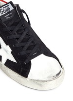 'Superstar' star patch distressed suede sneakers