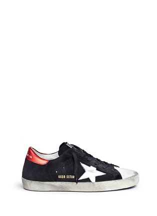 Golden Goose-'Superstar' star patch distressed suede sneakers